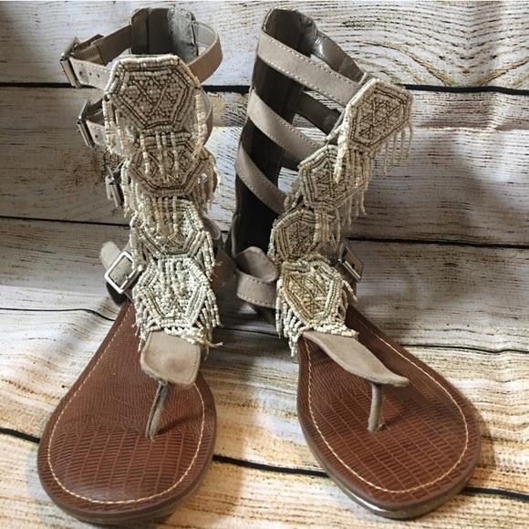 Carlos Santana Shoes - Beautiful beaded gladiator sandals